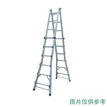 金锚 美式铝合金折叠延伸梯 踏棍数:20 额定载荷(KG):110 人字高度(米):2.77,FE4×5EI