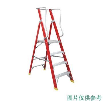金锚 高强度玻璃钢平台梯 踏板数:6 最大承重(KG):260 工作高度(米):1.68 底宽(米):0.754,FO25-106