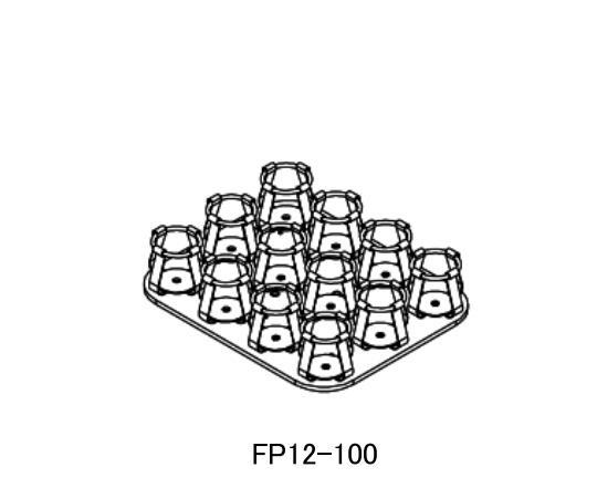 亚速旺 烧瓶架,100~150ml,培养箱配件,FP12-100,C4-525-12