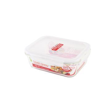 乐扣乐扣玻璃保鲜盒,饭盒便当盒上班族微波炉饭盒 LLG445-CHS 1L长方形