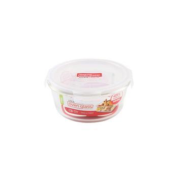 乐扣乐扣玻璃保鲜盒,上班族微波炉冰箱保鲜盒饭盒便当盒 LLG861-CHS 950ml 圆形