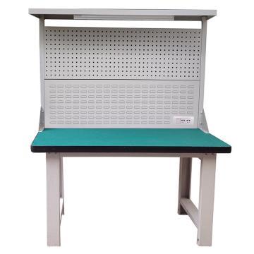 Raxwell 重型工作台,带挂板组 带灯 尺寸(长*宽*高mm):1800*750*1800(台面厚50mm)