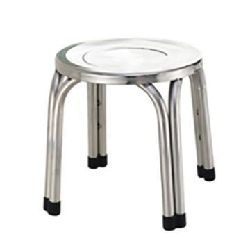 西域推荐 不锈钢圆凳,加厚,高22cm