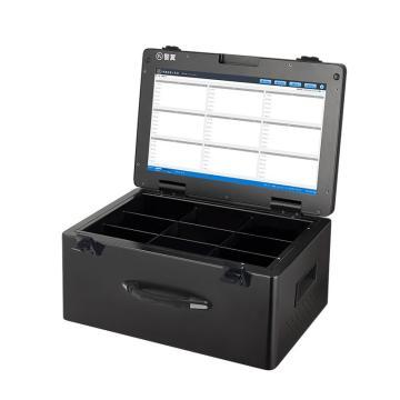 警翼执法记录仪采集工作站S2高速采集17英寸超清触摸屏9采集口3T储存桌面式