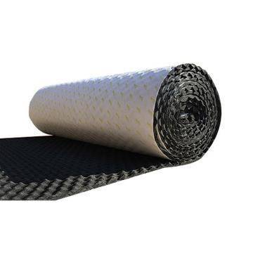 安赛瑞 隔音防水棉自粘 厚2cm 1x10m 黑色凹凸吸音棉隔音隔音吸音隔音板材料自粘保温 企业可定制