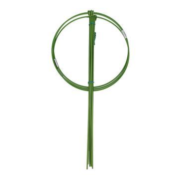 安赛瑞 盆栽叶支柱 园艺支架花卉爬藤植物支柱园艺支架包塑铁环花支柱 圈径14cm管高28cm