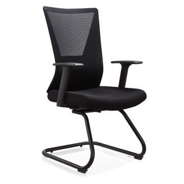 鑫辉 XH-CH-01A 会客椅 620W*570D*930H 黑色 弓形会议椅员工椅(散件不含安装)