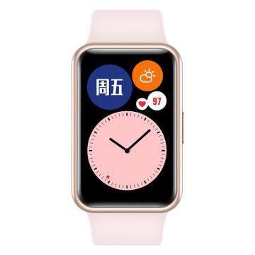 华为 WATCH FIT 华为手表 运动智能手表方形 樱语粉 TIA-B19