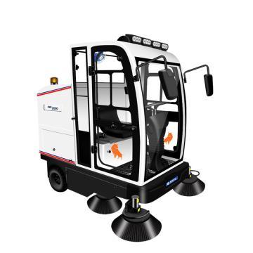亚伯兰 全封闭驾驶式电动扫地车,ybl-2000 14000㎡/h 48V100A