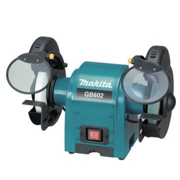 牧田makita 250W台式砂轮机抛光机打磨机,砂轮直径150mm,回转数2850,GB602