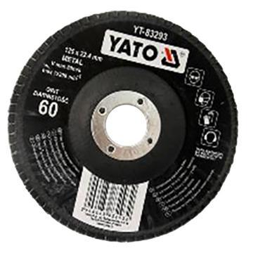 易尔拓 钹型百叶轮,棕刚玉,60#,125×22.4,12200RPM,1个