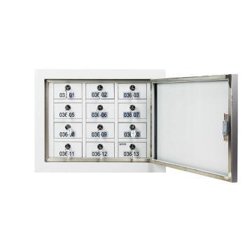 鑫辉 XH-CH-GZ006-2 挂壁款12格手机屏蔽柜 494*240*385 灰白色