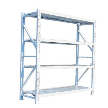 鑫辉 XHSJ-HJ02 四层货架,(5组起订) W1500*D600*H2000 金属拆装钢制中型重型置物架仓储货架 白色