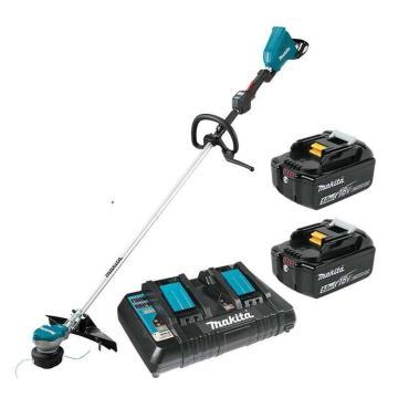牧田makita 充电式无刷割草机,金属刀片230mm36V(双18V电池)5.0Ah电池两电一充,DUR368LPT2