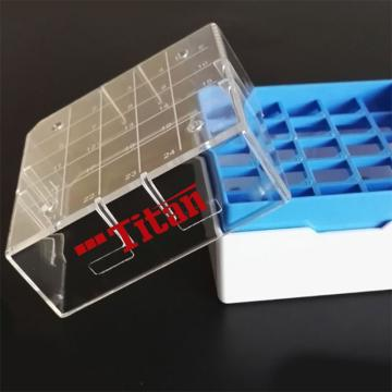 泰坦 塑料冷冻盒 PC 耐受温度范围:-196℃到121℃ 红黄蓝绿四色装 25格,1袋(4个/袋,6袋/箱)
