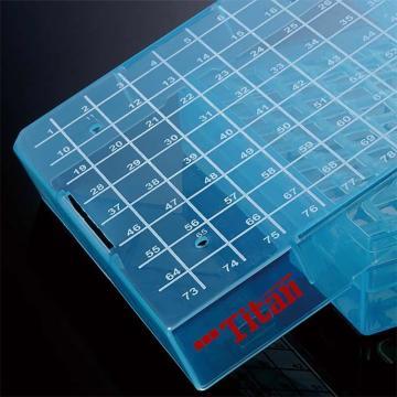 泰坦 塑料冷冻盒 PP 耐受温度范围:-90℃到121℃ 红黄蓝绿白五色装 81格,1袋(5个/袋)