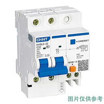 正泰CHINT NXBLE-63剩余电流动作断路器,NXBLE-63 4P C63 30mA 6kA
