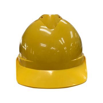 Raxwell Victor安全帽,黄色,耐低温电绝缘阻燃,8点式锁扣,ABS,RW5100