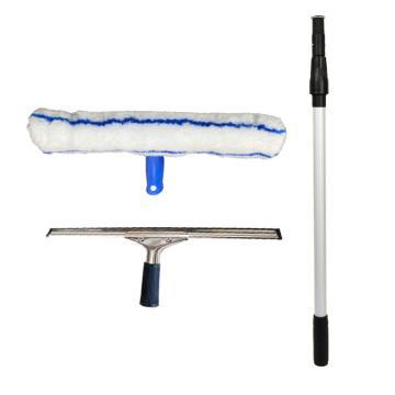 Raxwell 玻璃清洁组合,35cm玻璃刮+35cm涂水器+1.2m双节伸缩杆 RJTG0014 单位:套