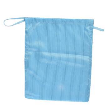 翰洋洁净 竖条纹单层防静电洁净布袋(30*45cm) 100D,H1103 蓝色 单位:个
