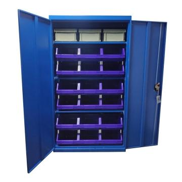 Raxwell 蓝色置物柜(三层板),尺寸(长*宽*高mm):1000*500*1800,含零件盒和周转箱