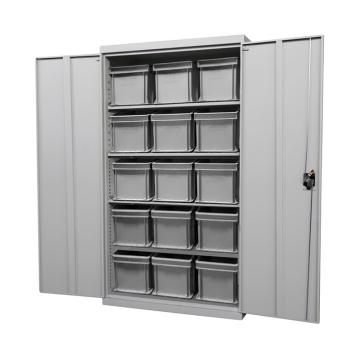 Raxwell 蓝色置物柜(四层板),尺寸(长*宽*高mm):1000*500*1800 含零件盒和周转箱