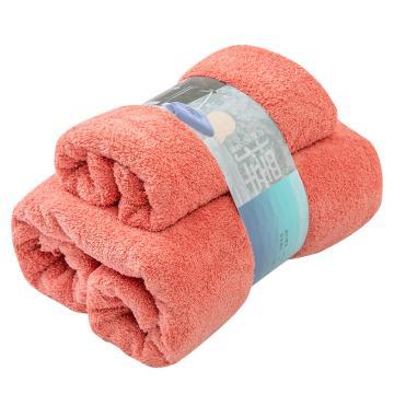南极人 微米素色瞬吸快干浴巾组合,毛巾35*75cm*1 浴巾70*140cm*1 随机色(青/灰/红)
