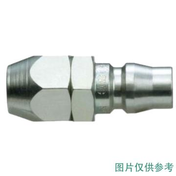 SMC 对接式带螺母快插插头,带单向阀,KK130P-65N