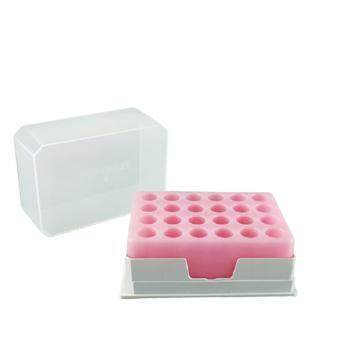 探索精选 PCR低温指示冰盒 -21℃ 24孔 适用于1.5ml、2.0ml 离心管,TS085-2421,1个