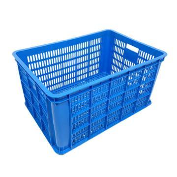 探索精选 塑料周转筐 蓝色 长×宽×高(mm):610×420×310,TS020-016,1个